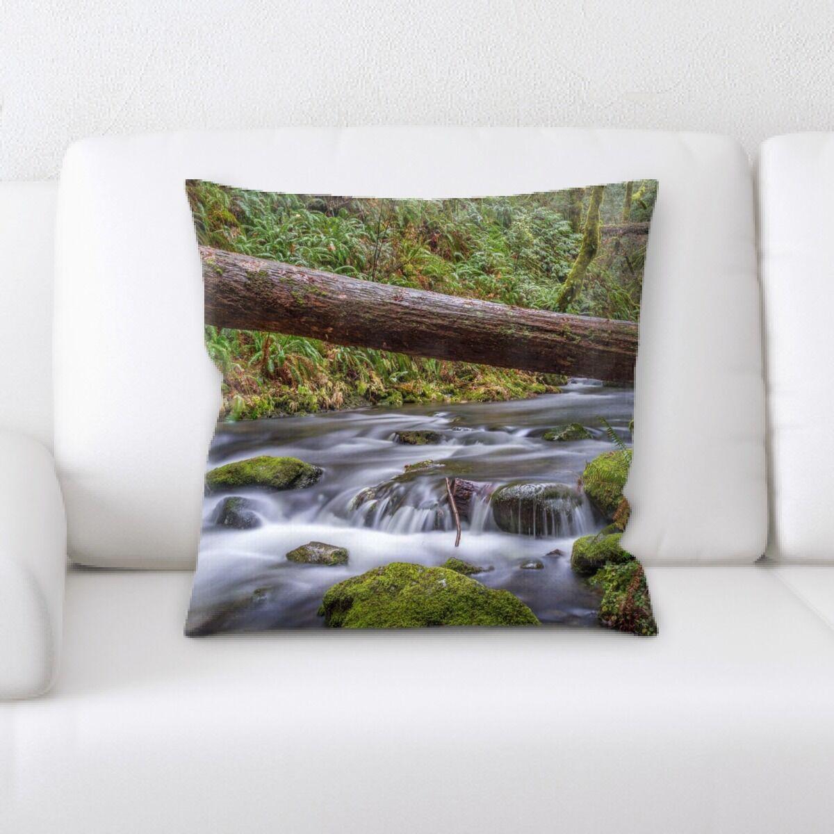Waterfall (43) Throw Pillow