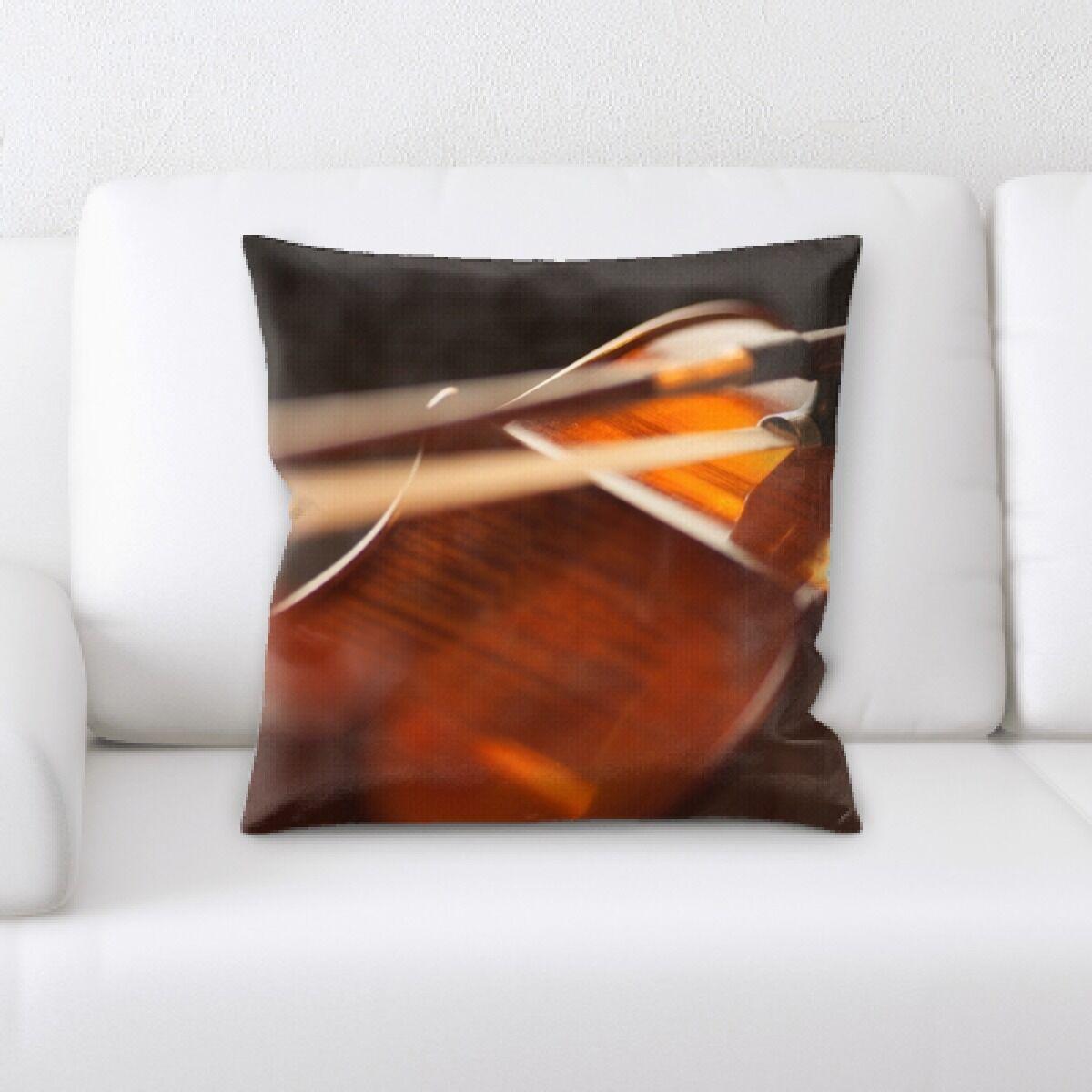 Gorgas Violin Throw Pillow