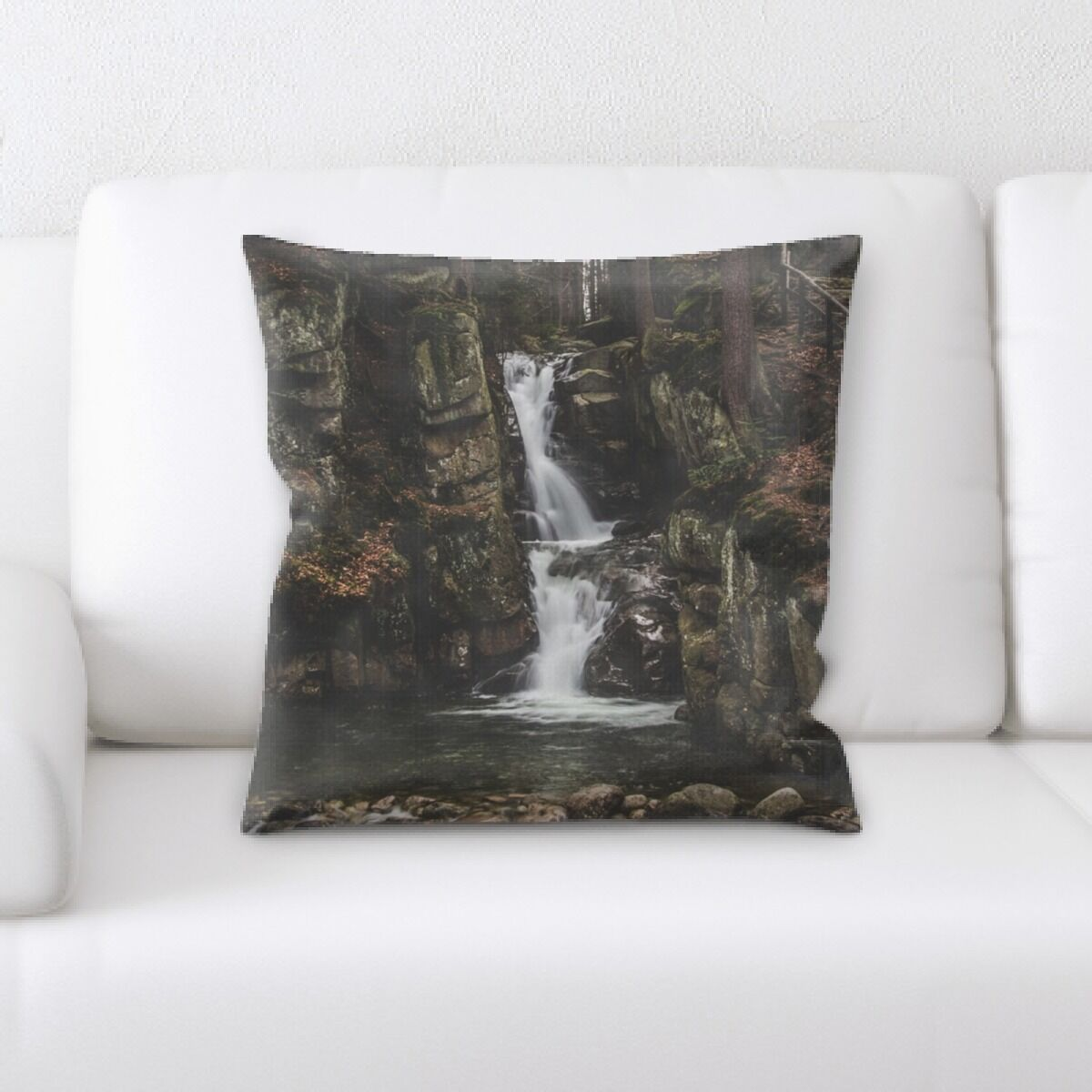 Waterfall (11) Throw Pillow