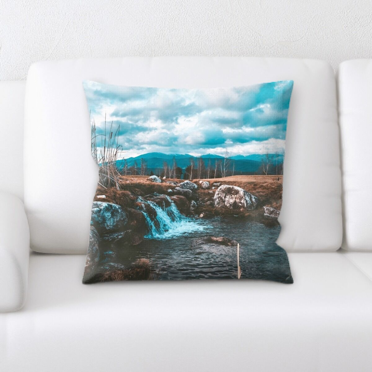 Waterfall (12) Throw Pillow