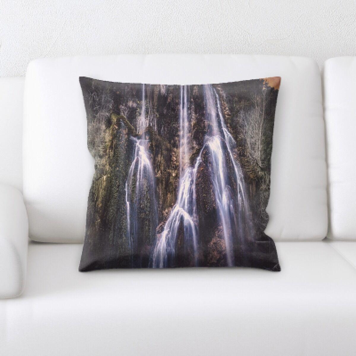 Waterfall (69) Throw Pillow