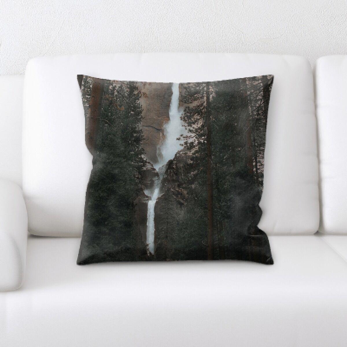 Waterfall (80) Throw Pillow