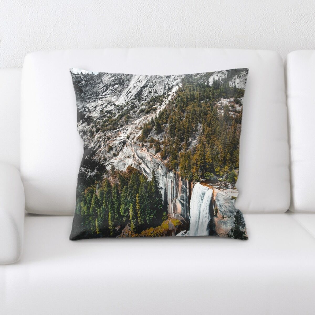 Waterfall (81) Throw Pillow