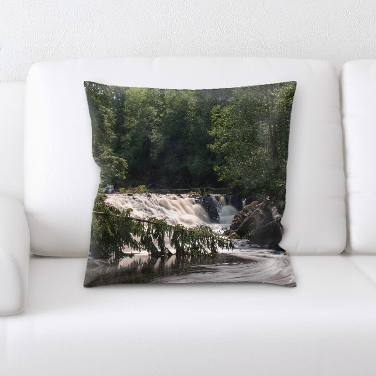 Waterfall (82) Throw Pillow