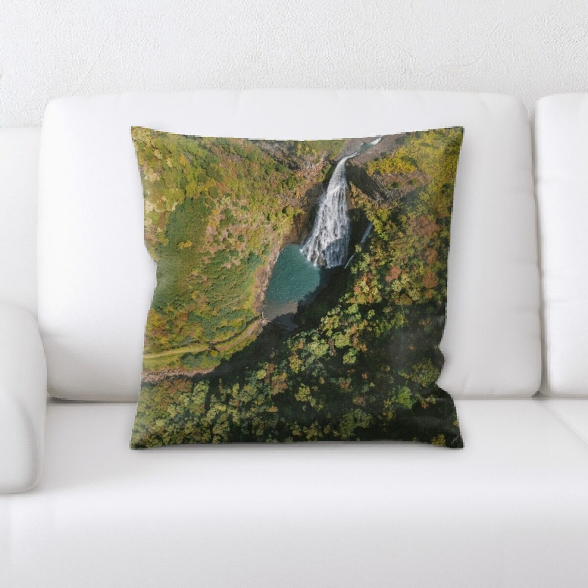 Waterfall (86) Throw Pillow