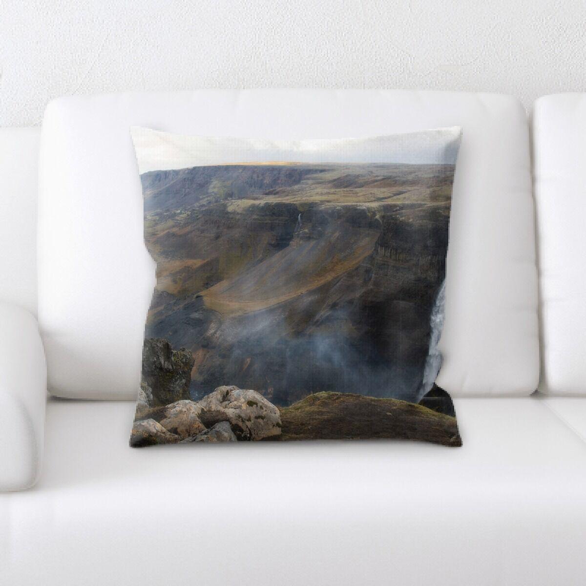 Waterfall (104) Throw Pillow
