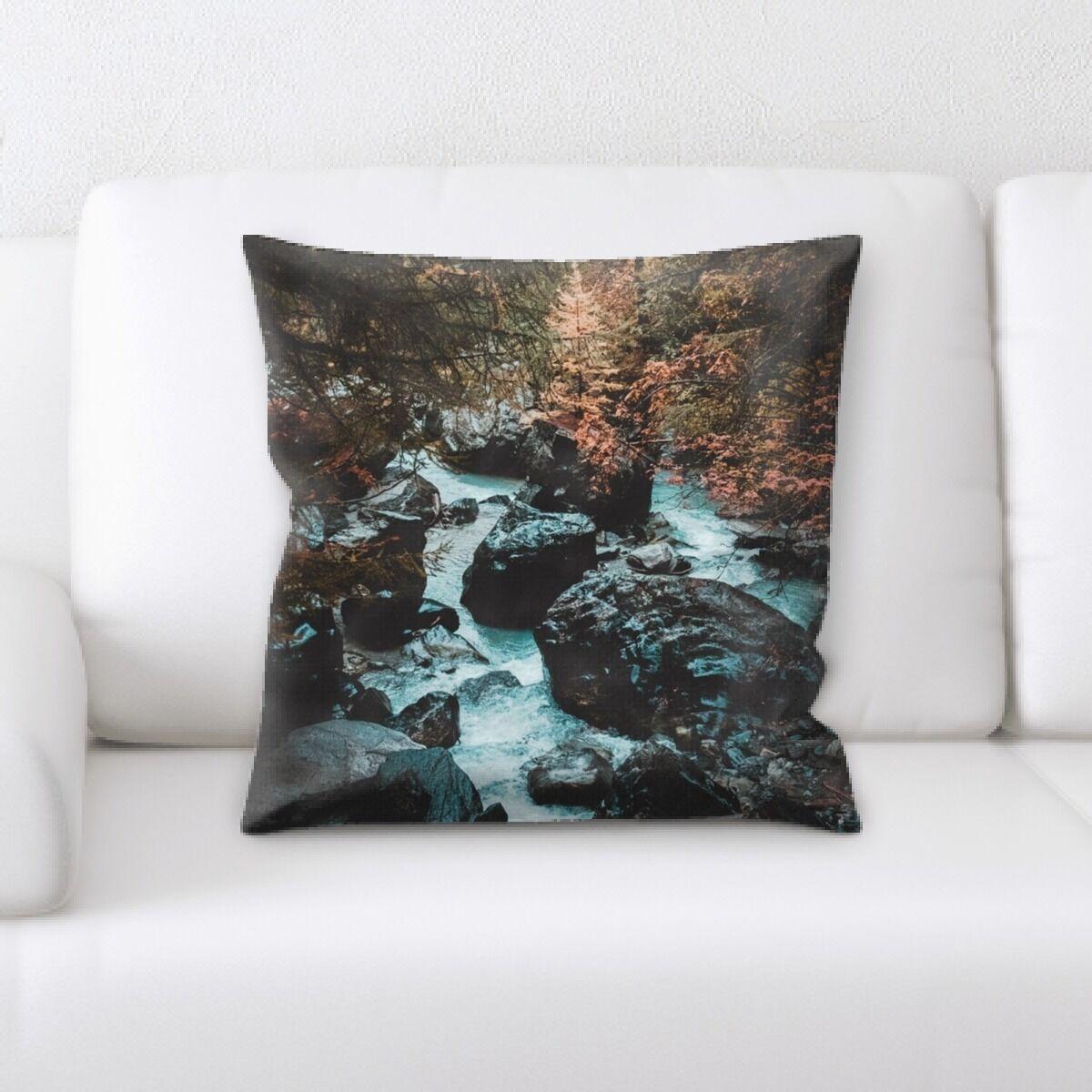 Waterfall (107) Throw Pillow