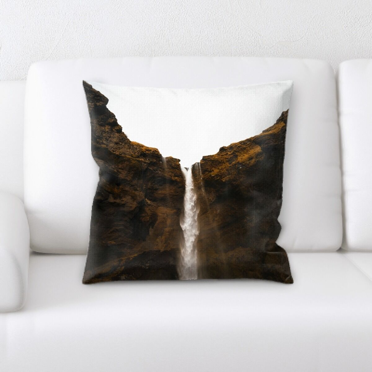 Waterfall (118) Throw Pillow