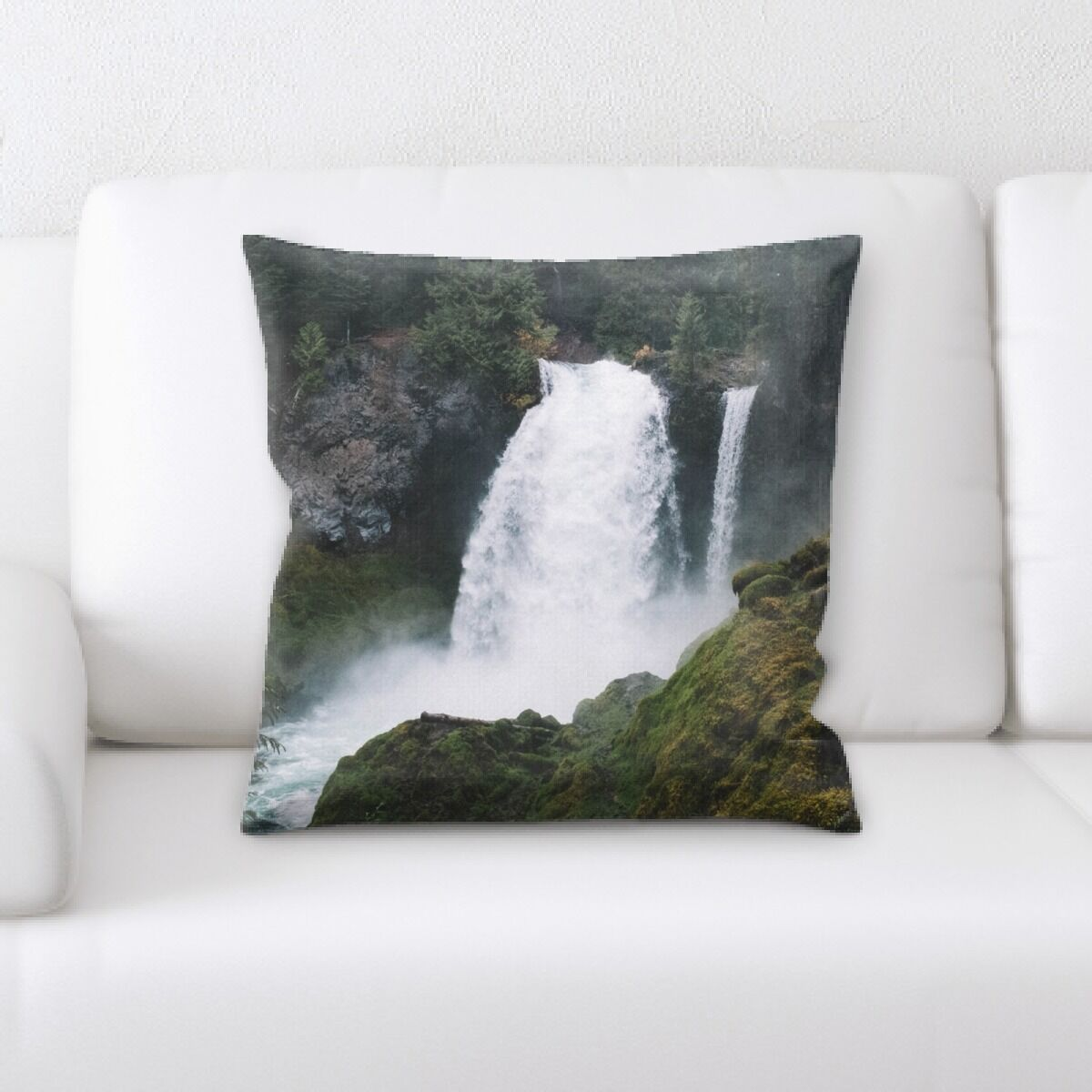 Waterfall (120) Throw Pillow