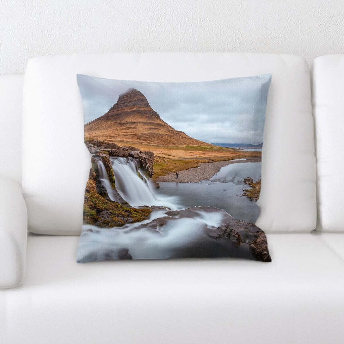 Waterfall (139) Throw Pillow