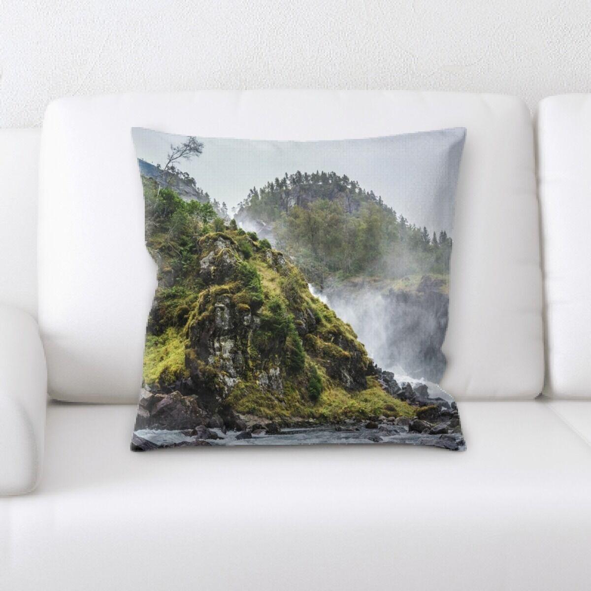 Waterfall (141) Throw Pillow