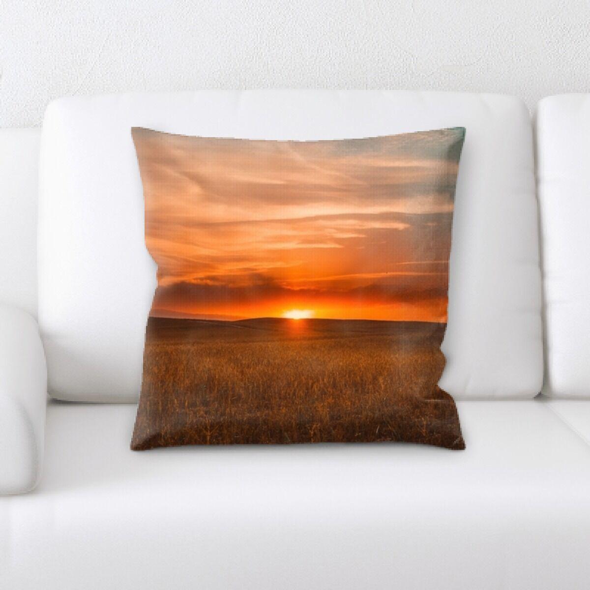 Sunset (13) Throw Pillow