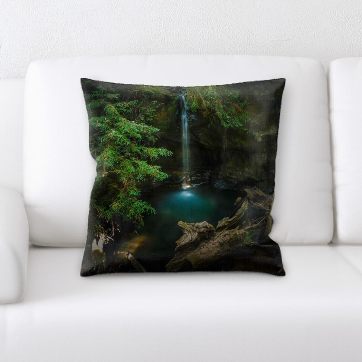 Lanier Waterfall (229) Throw Pillow