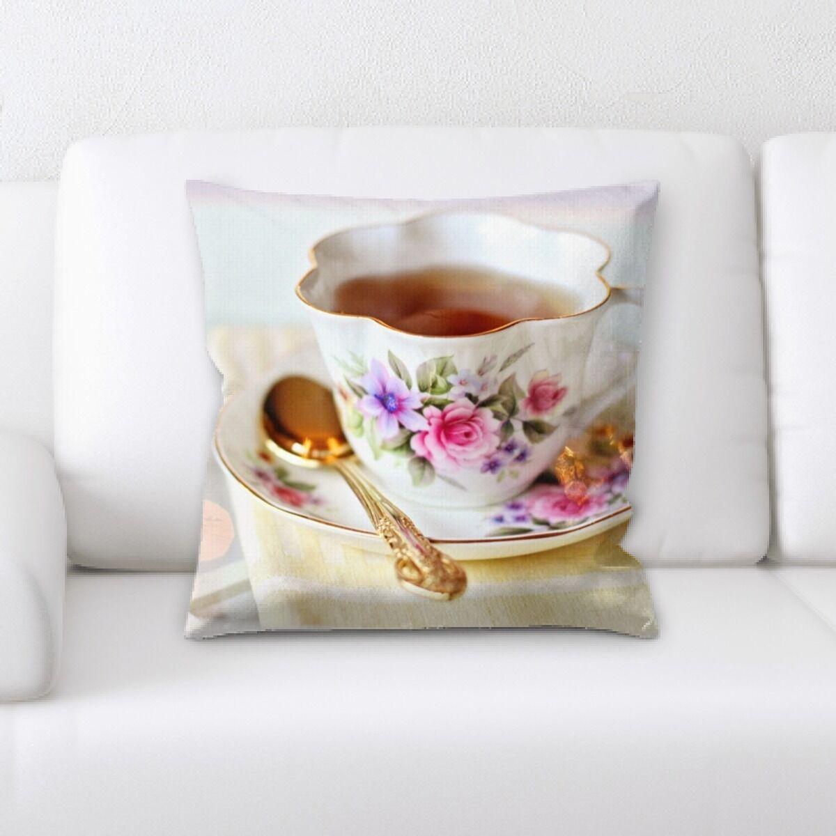 Tea (10) Throw Pillow