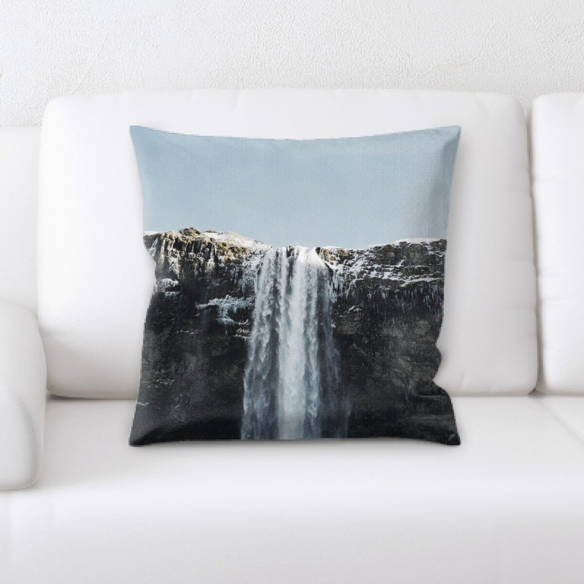 Waterfall (157) Throw Pillow