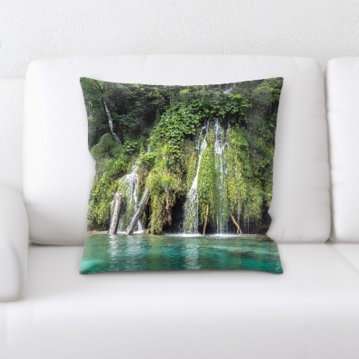 Waterfall (158) Throw Pillow