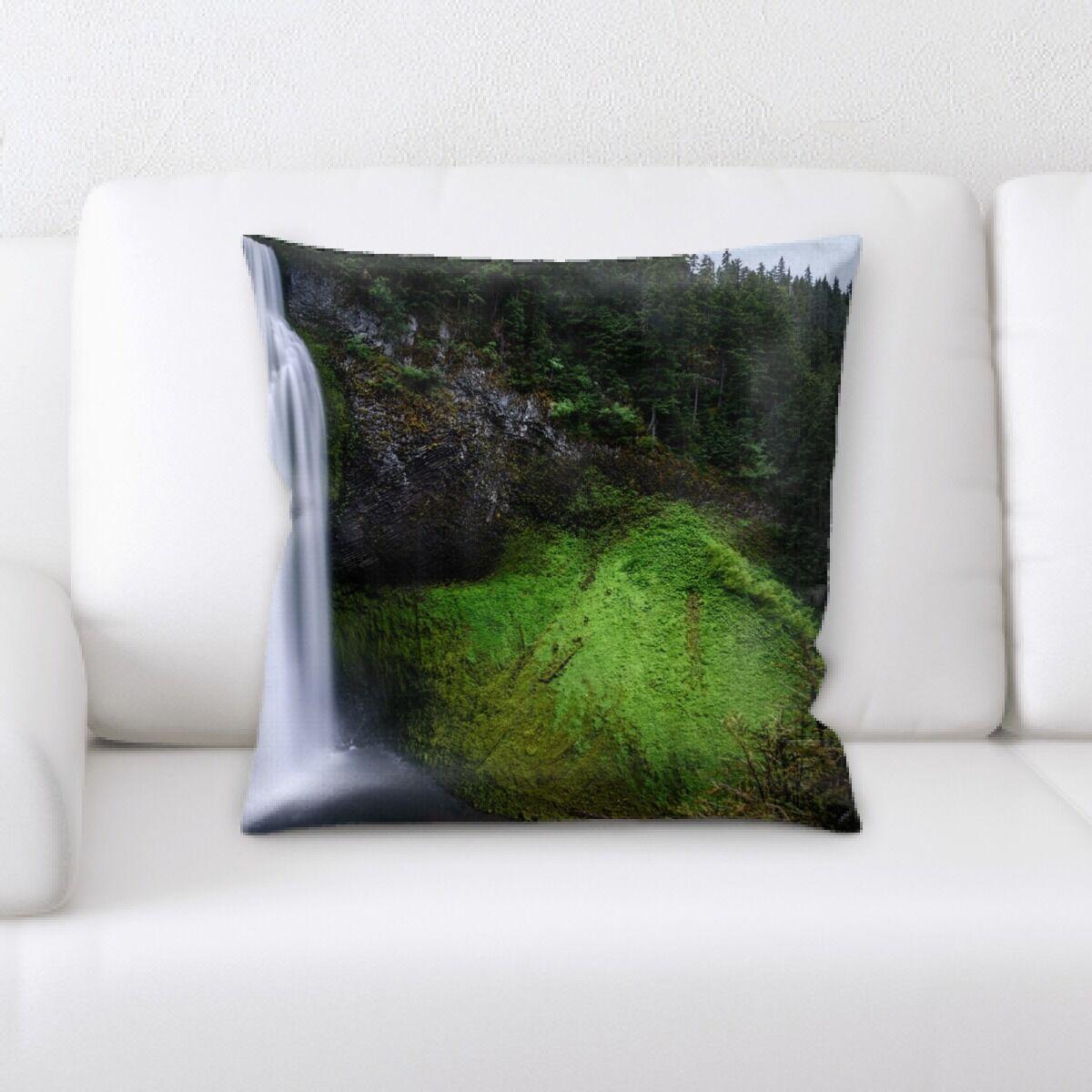 Waterfall (163) Throw Pillow
