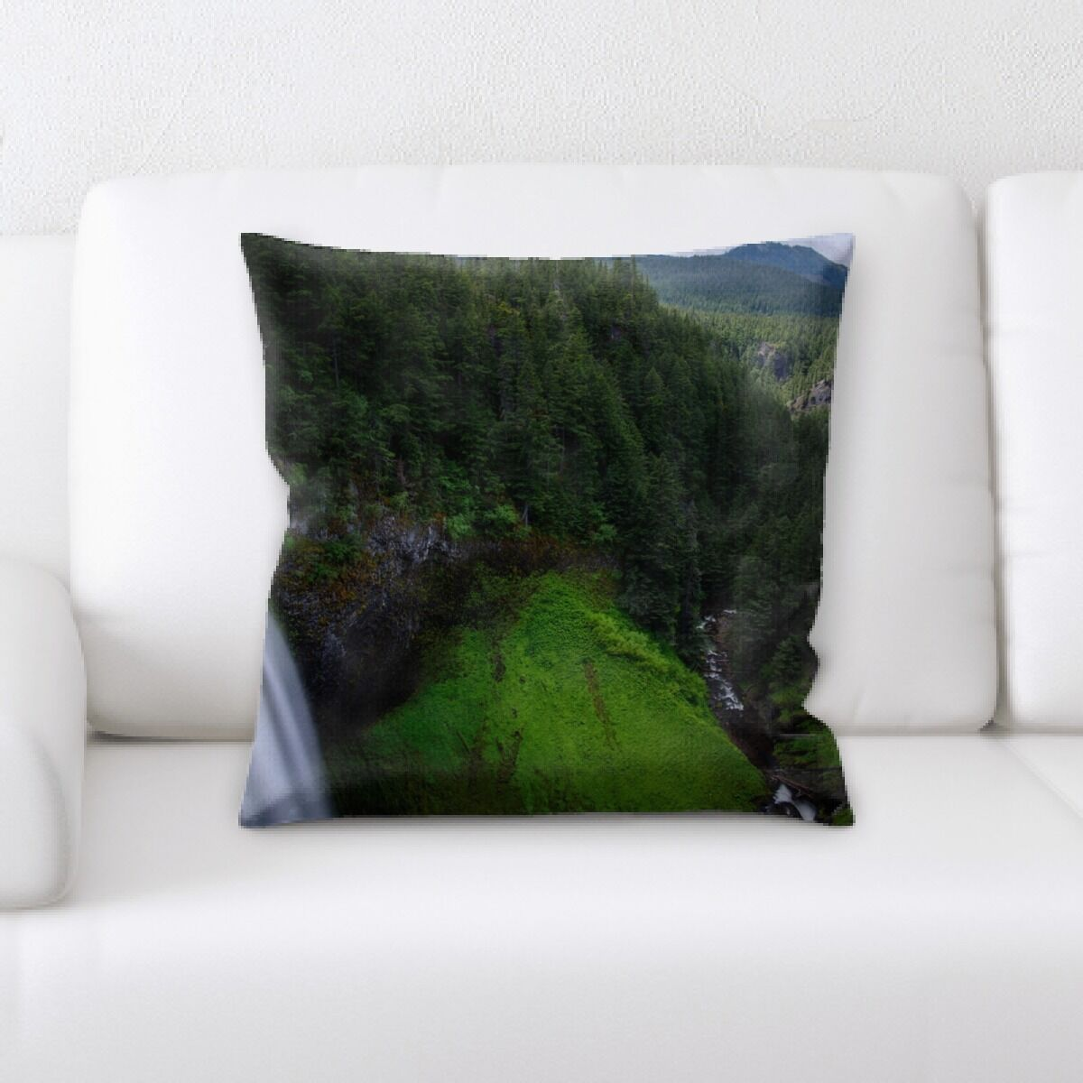 Waterfall (164) Throw Pillow