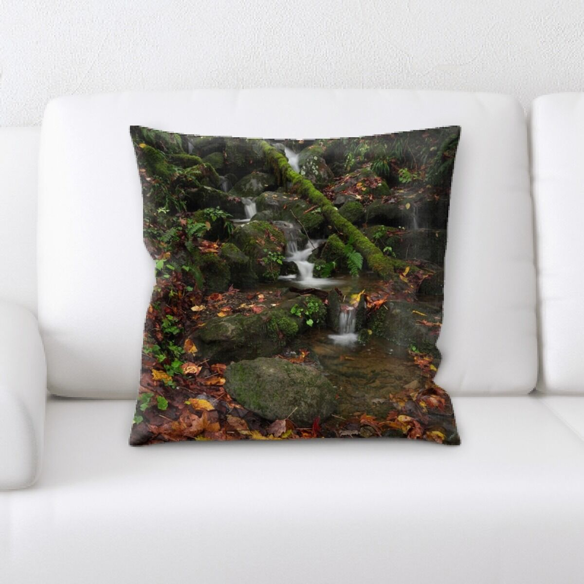 Waterfall (167) Throw Pillow