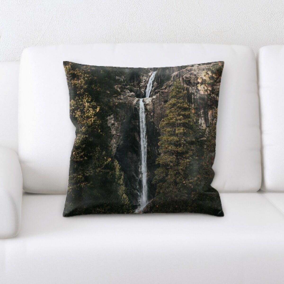 Waterfall (169) Throw Pillow