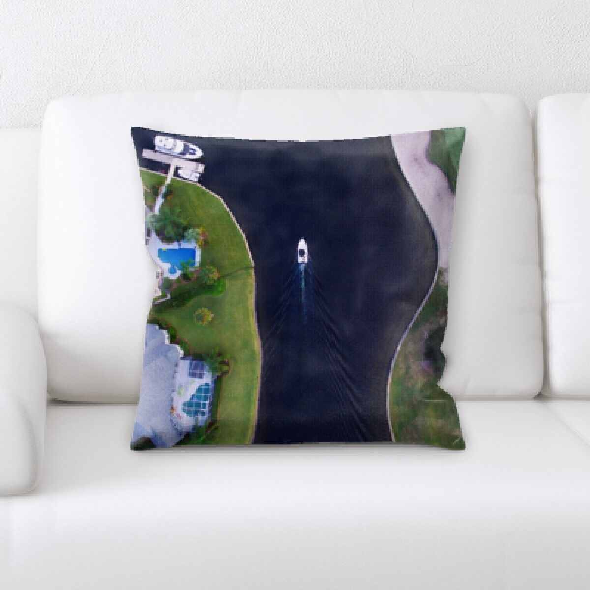 Land The Great Sea (145) Throw Pillow