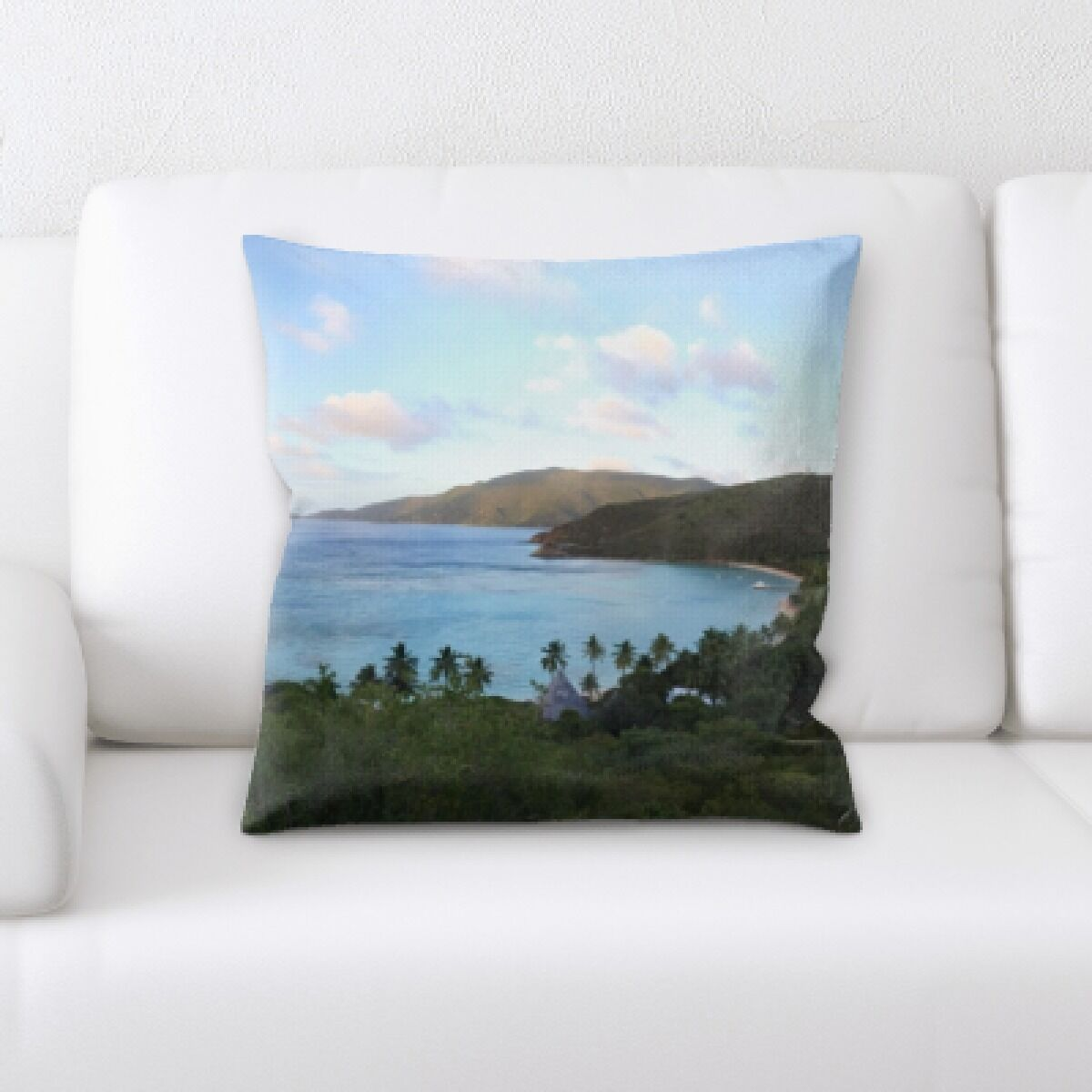 Laird The Great Sea (143) Throw Pillow