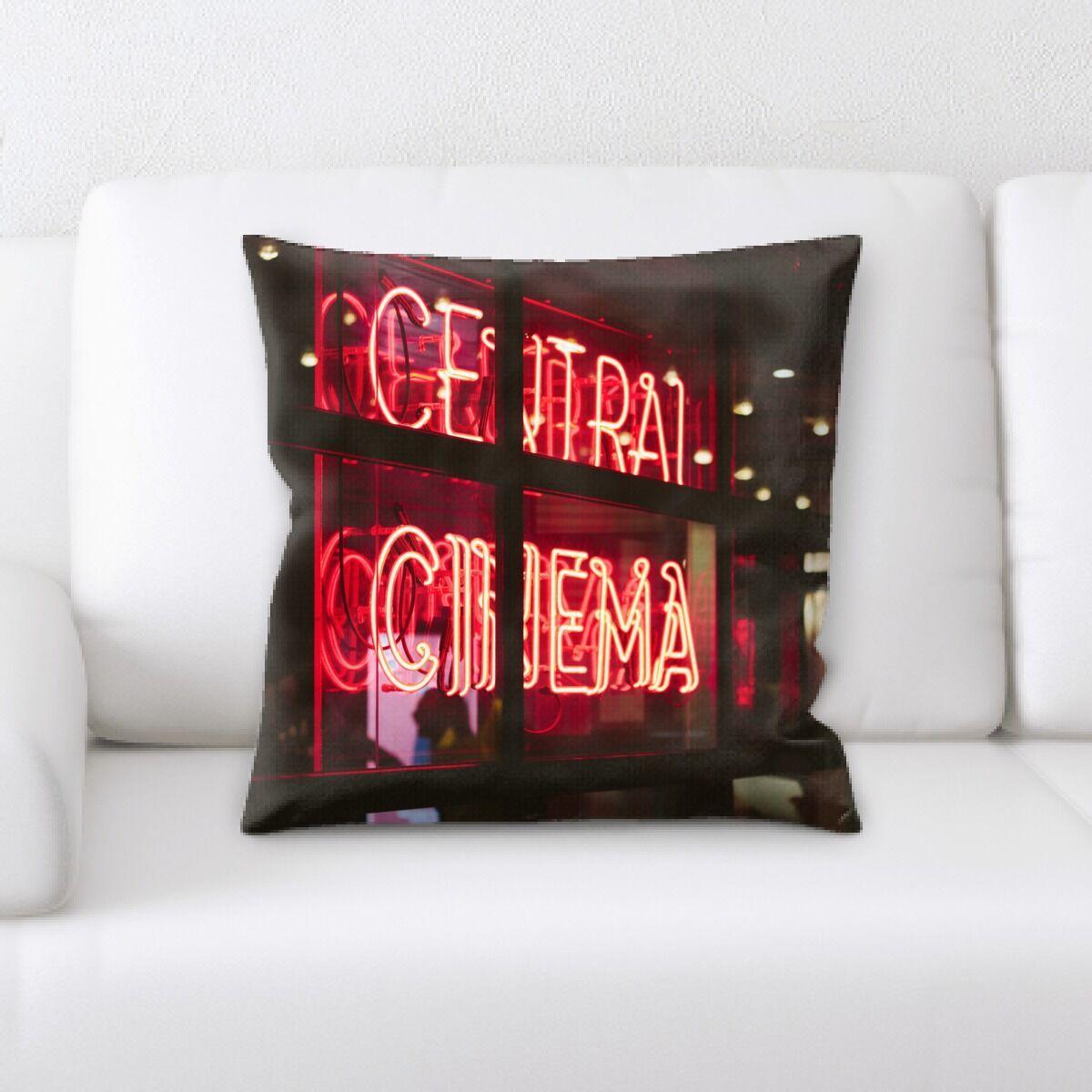 Jaycee Neon (20) Throw Pillow