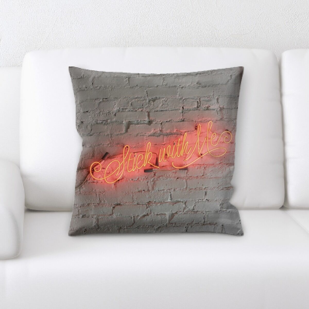 Jaycee Neon (72) Throw Pillow