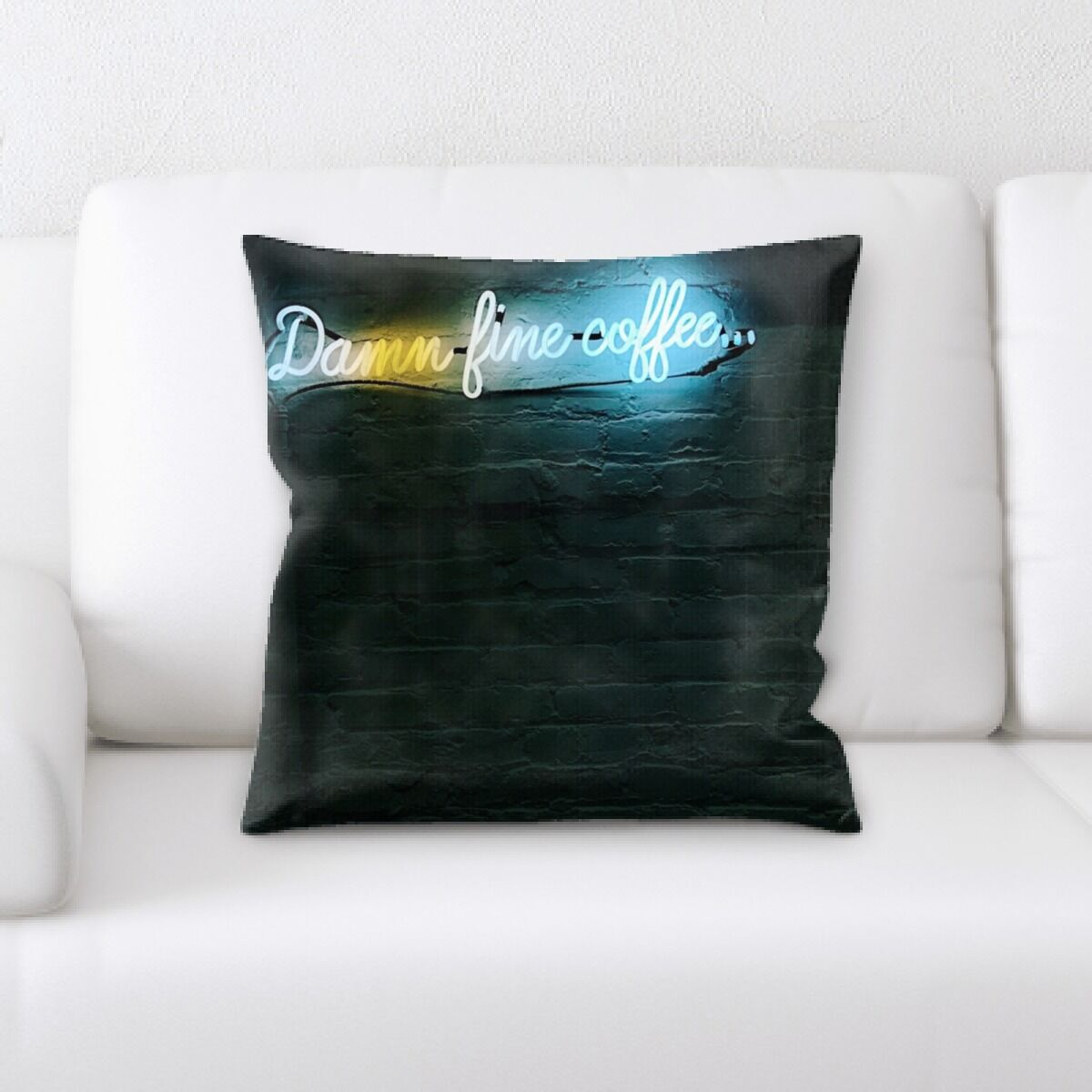 Waithman Neon (122) Throw Pillow