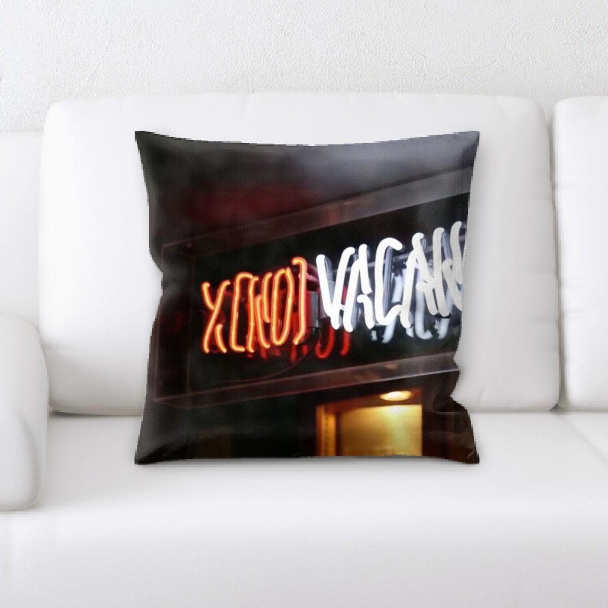 Jaycee Neon (84) Throw Pillow