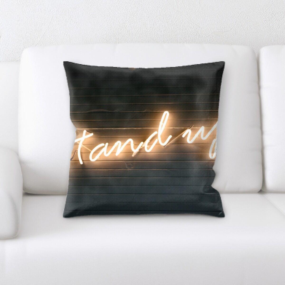Waithman Neon (150) Throw Pillow