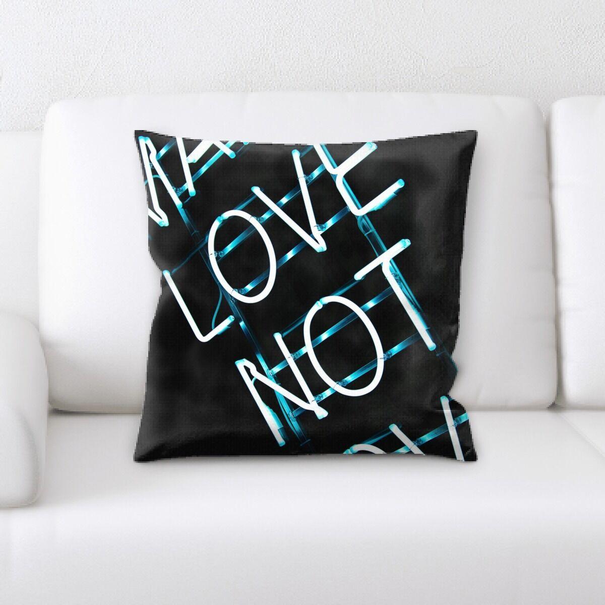 Jaycee Neon (43) Throw Pillow