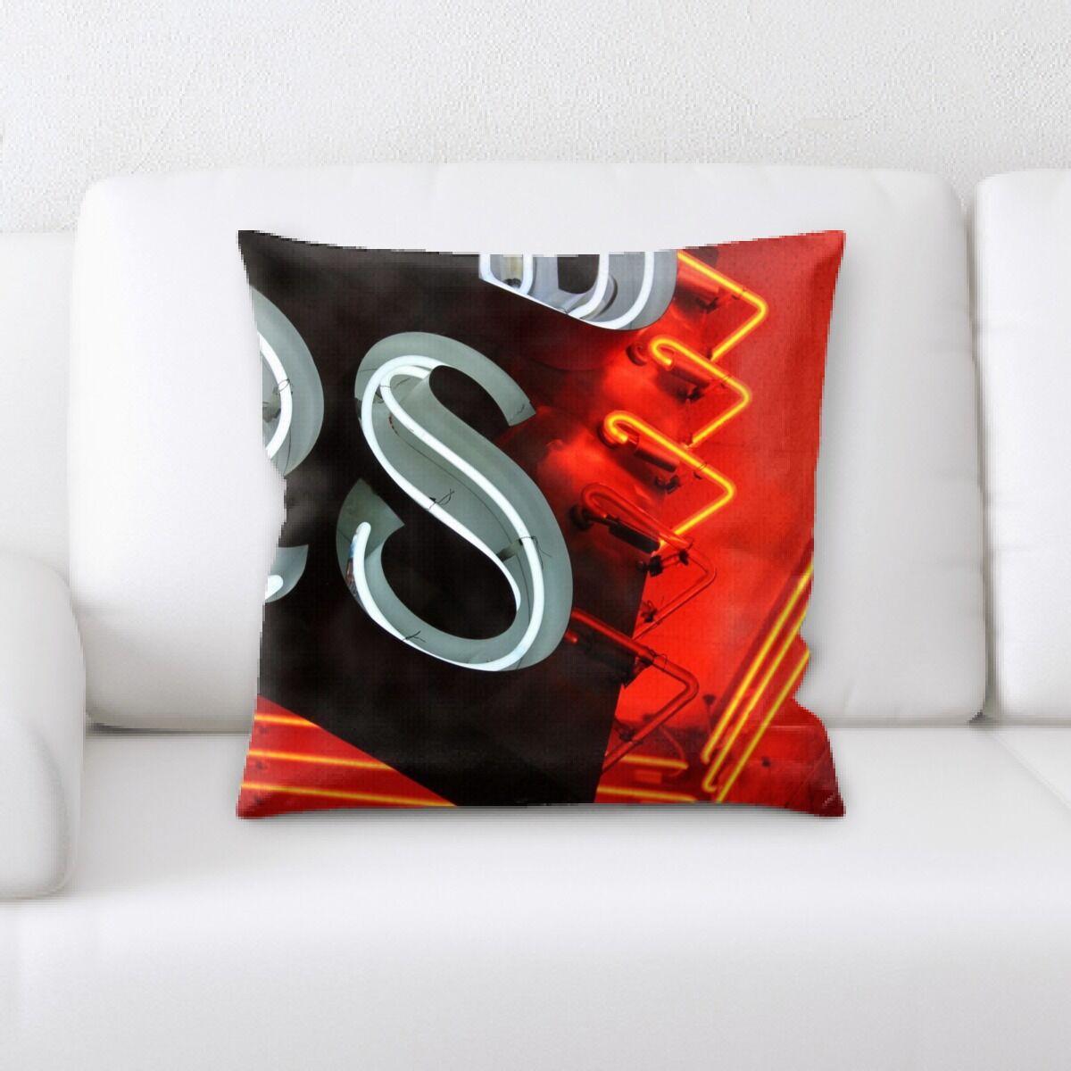 Jaycee Neon (57) Throw Pillow