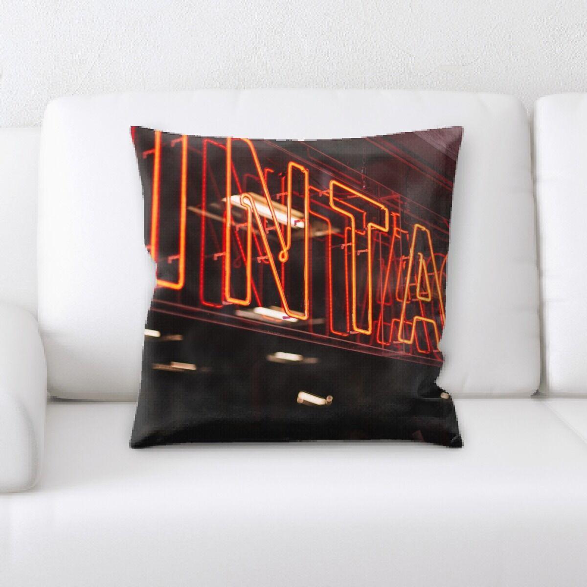 Jaycee Neon (60) Throw Pillow