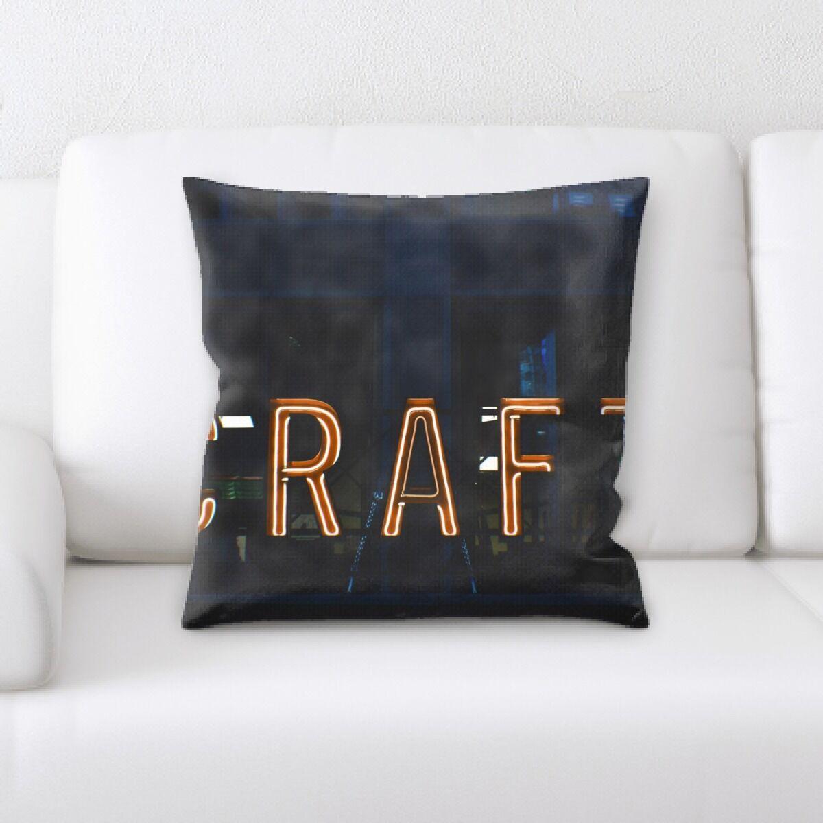 Waithman Neon (247) Throw Pillow