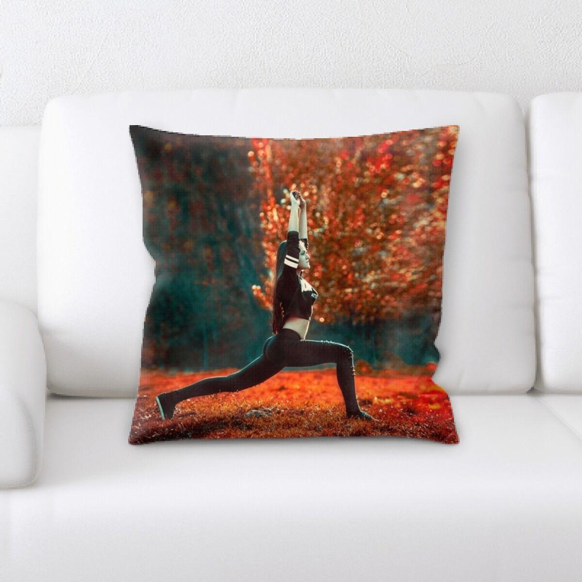 Princeton Yoga in Nature (2) Throw Pillow