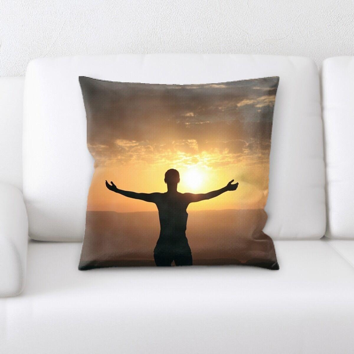 Princeton In Sunset (1) Throw Pillow