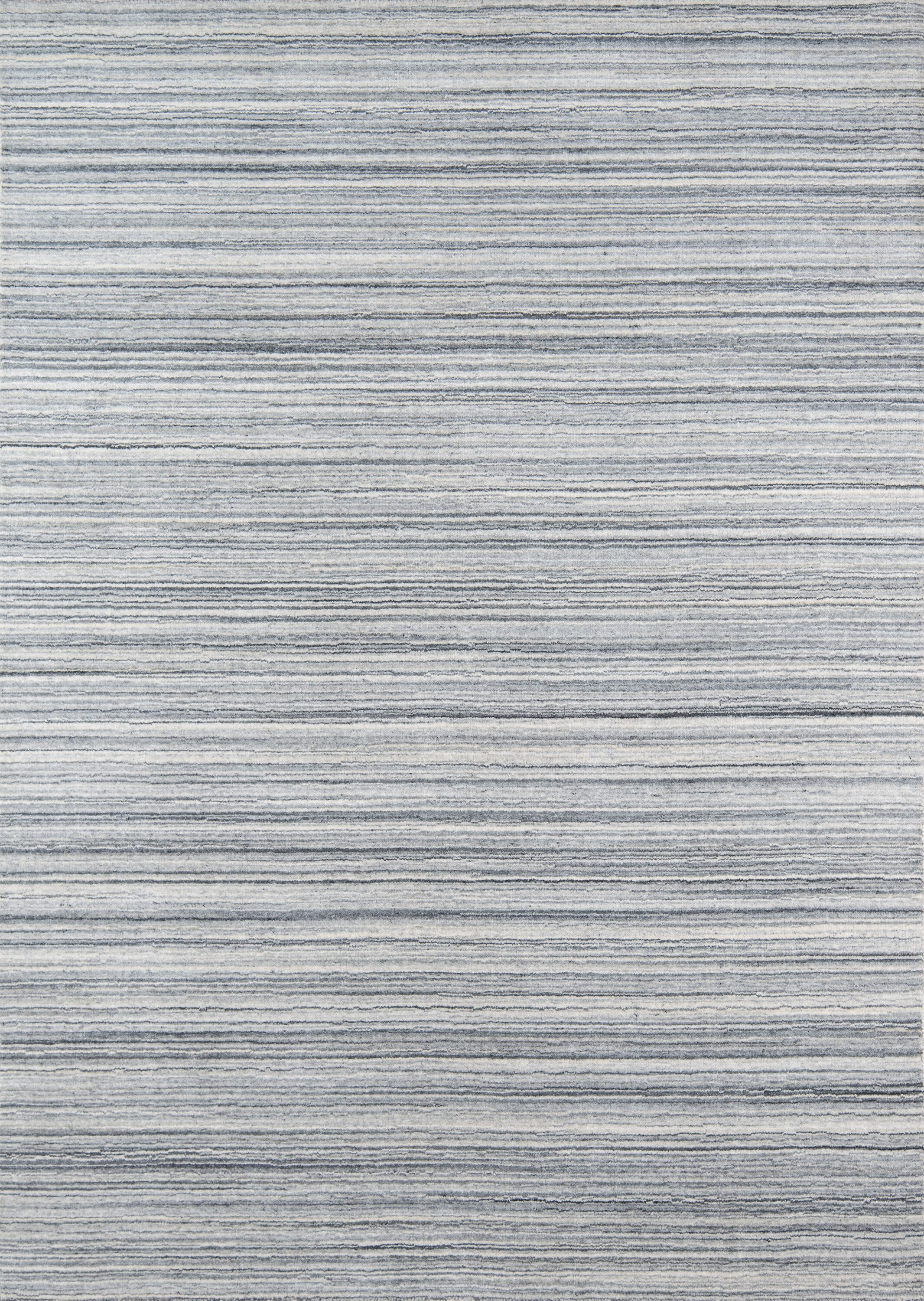 Haggins Hand-Woven Wool Gray Area Rug Rug Size: Rectangle 3'6