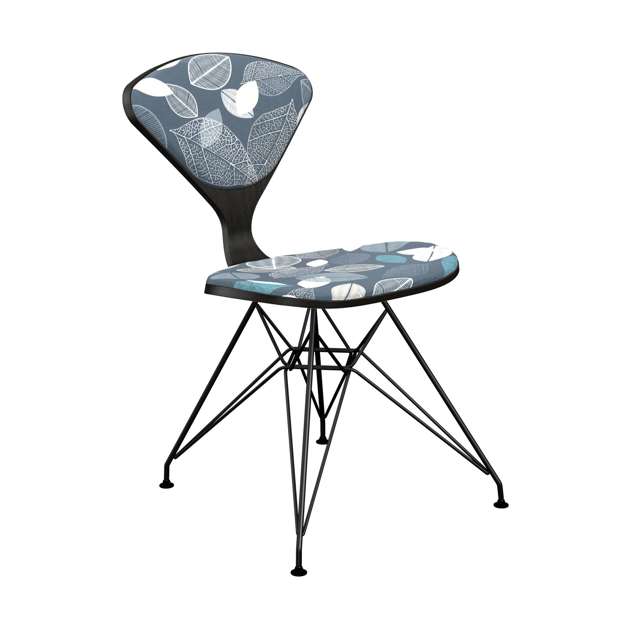 Vesper Upholstered Dining Chair Leg Color: Black, Frame Color: Black