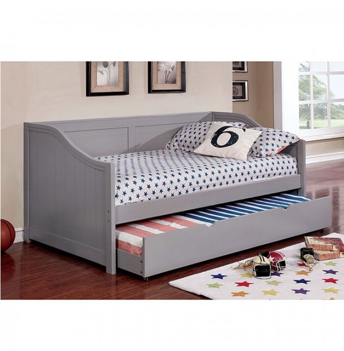 Damarion Twin Daybed with Trundle Color: Gray