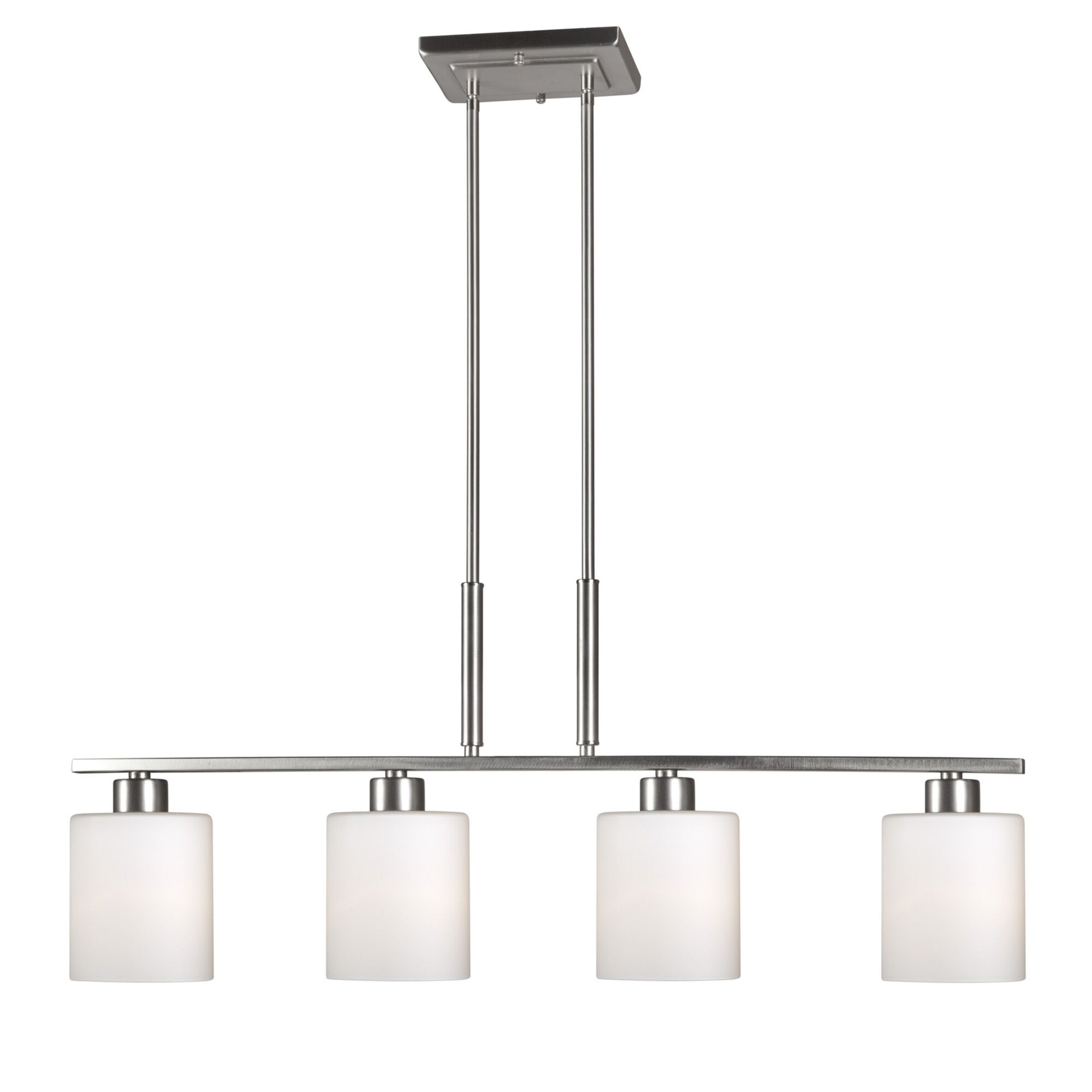 Osias 4-Light Kitchen Island Pendant Finish: Brushed Nickel