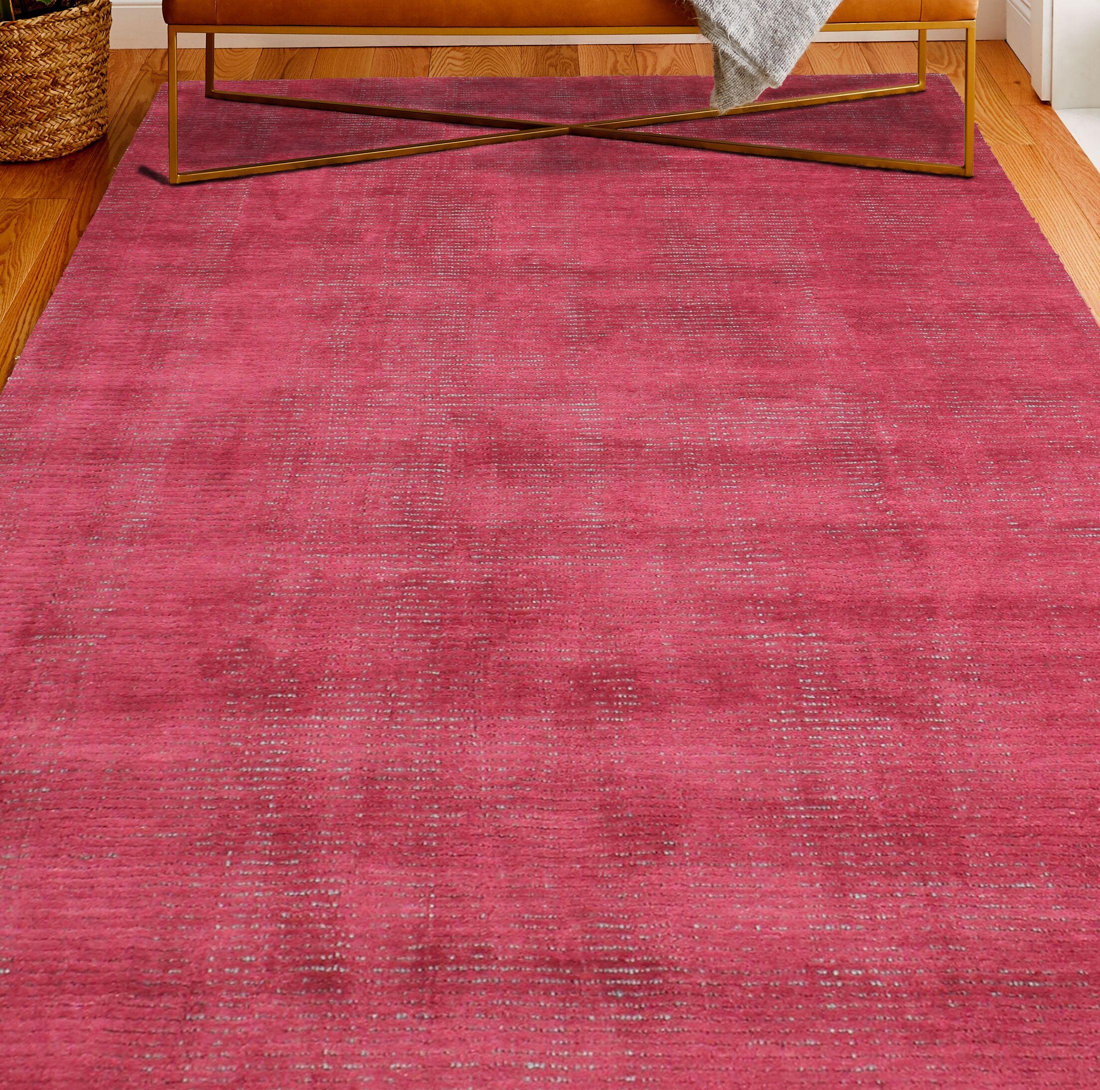 Hawkinson Wool Red Area Rug Rug Size: Rectangle 5' x 7'6