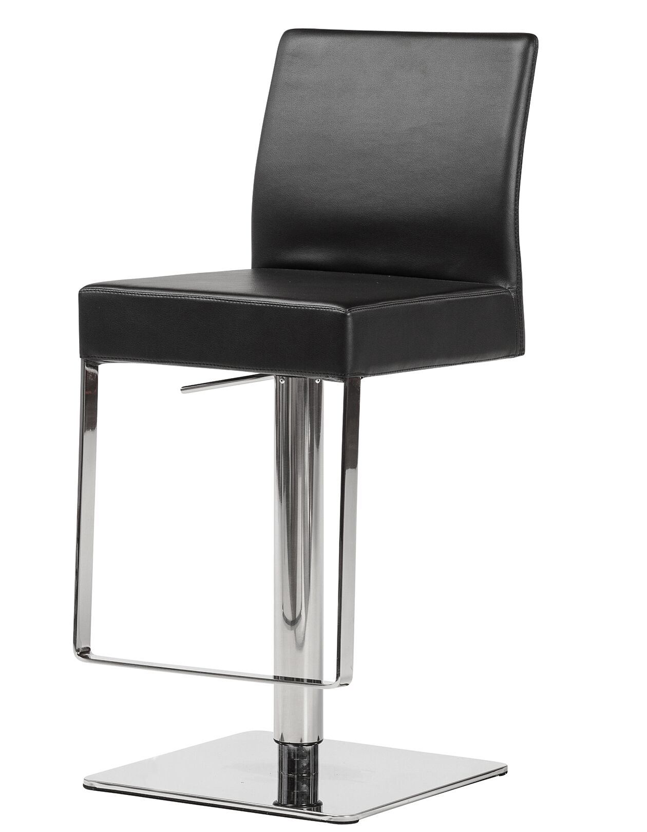 Emert Hydraulic Adjustable Swivel Bar Stool Upholstery: Black