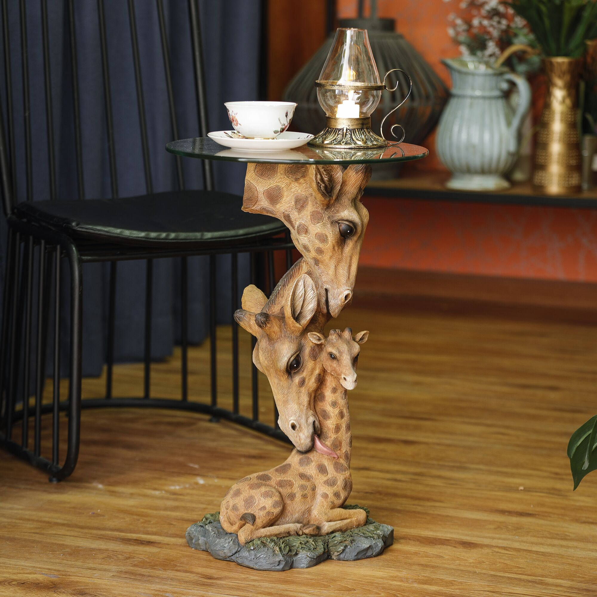 Rhoades Giraffe Family End Table