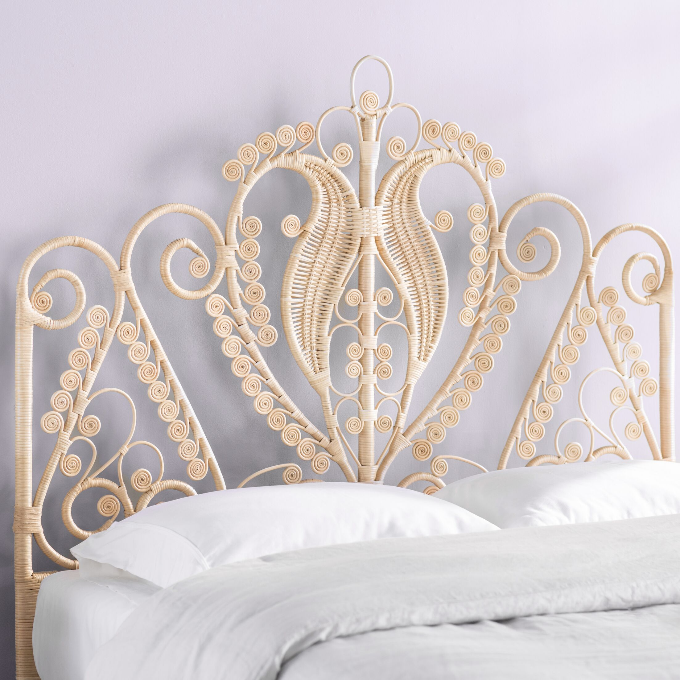 Patton Rattan Headboard Size: Queen, Color: Natural