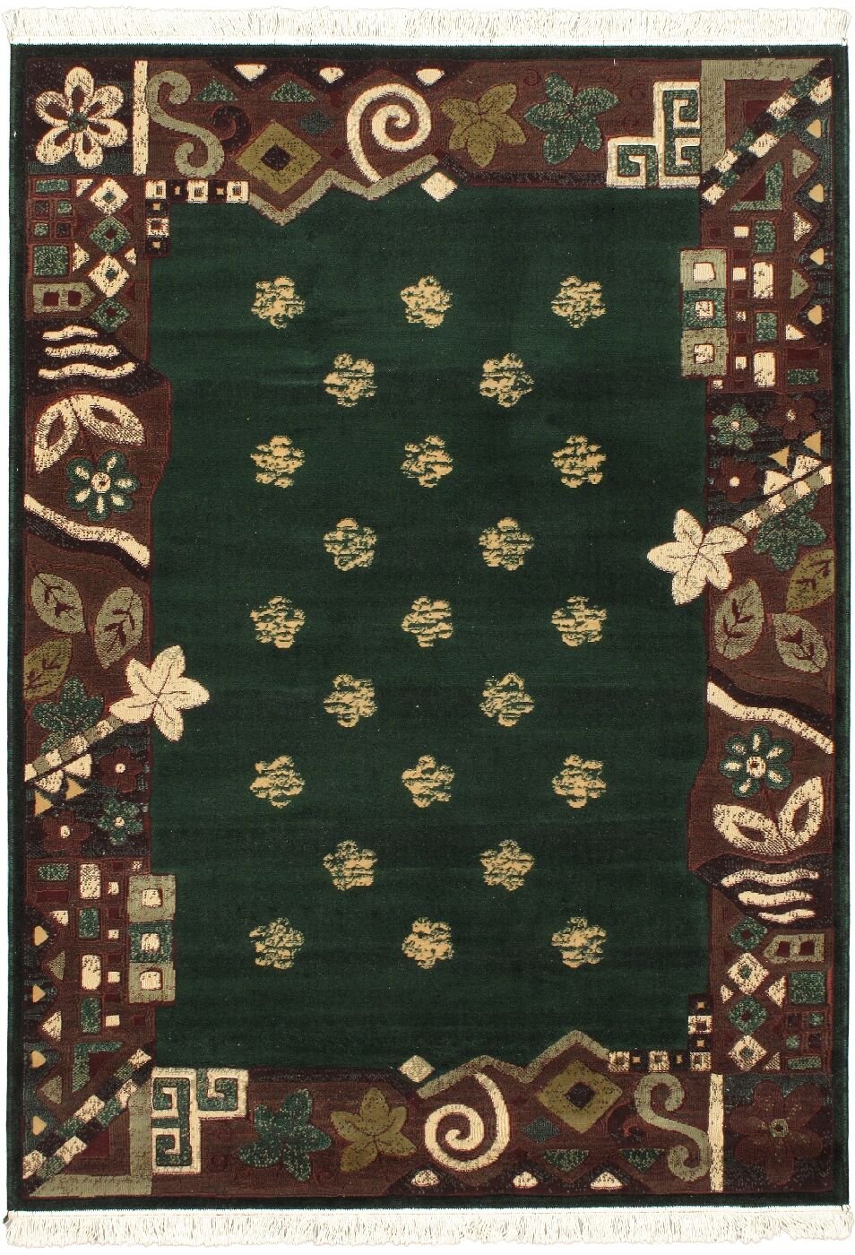 Rondon Green Area Rug