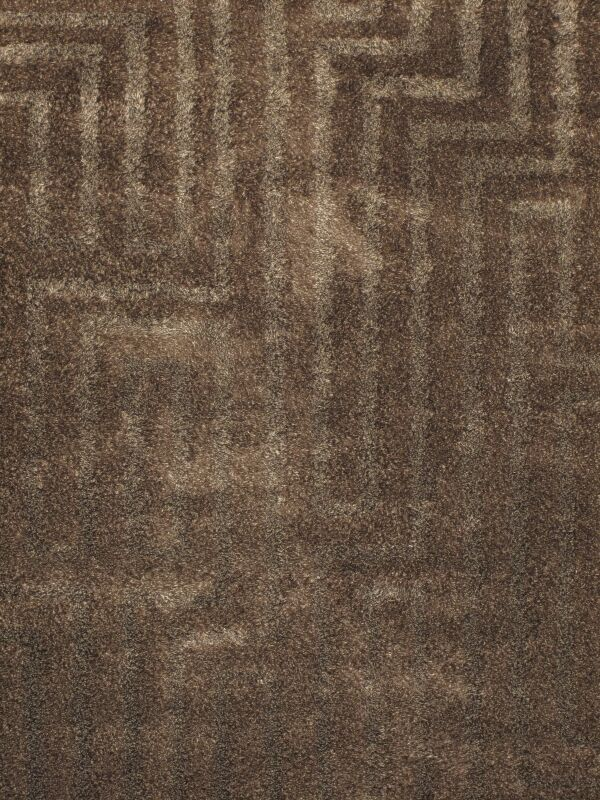Reith Brown Shag Area Rug