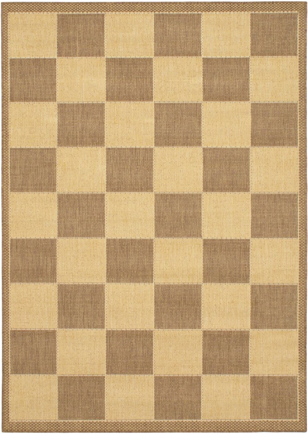Ronnie Brown/Ivory Hemp Indoor/Outdoor Area Rug