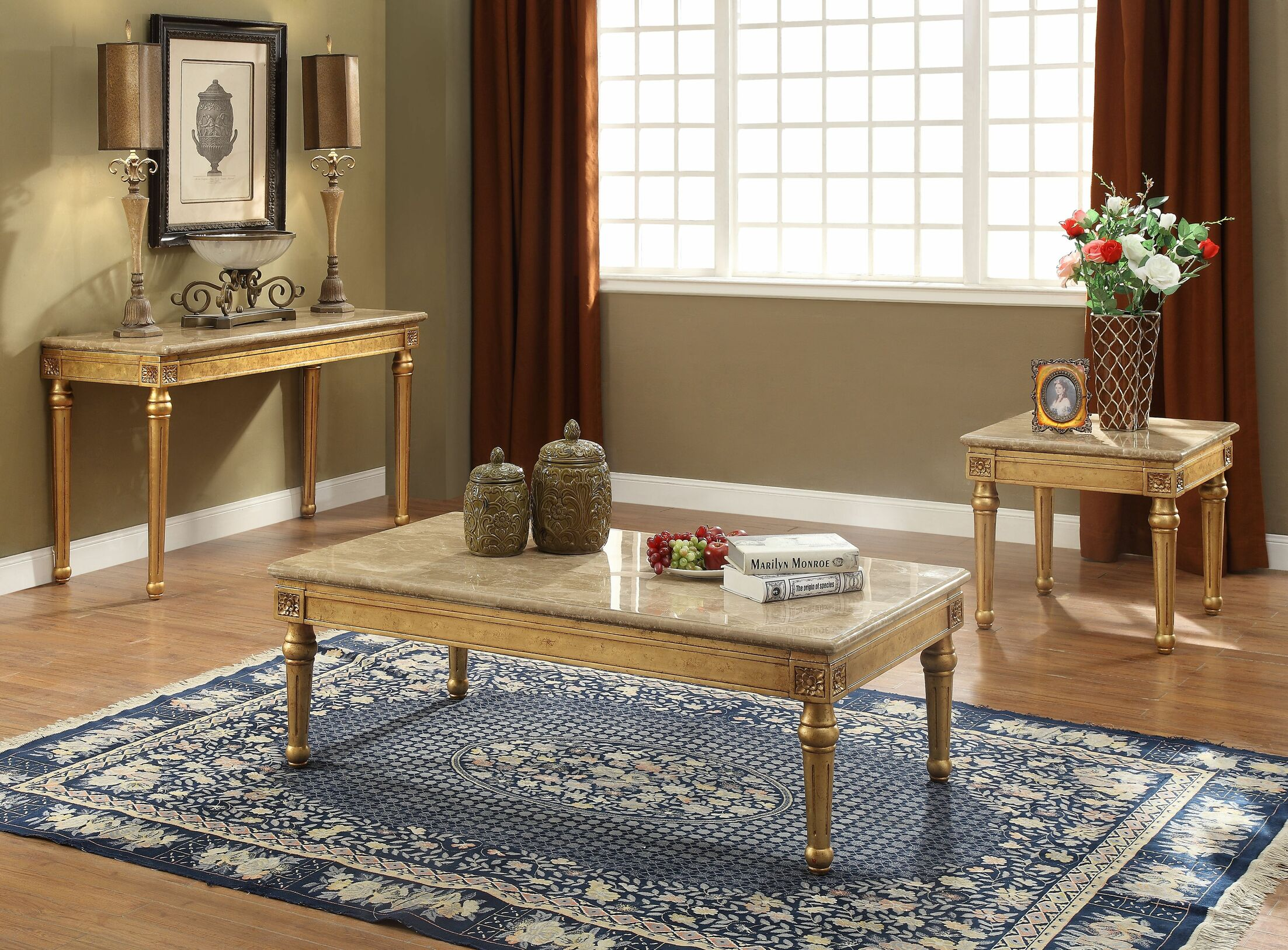 Robertson 3 Piece Coffee Table Set