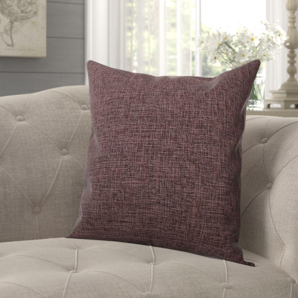 Criss Cotton Blend Pillow Cover Size: 18